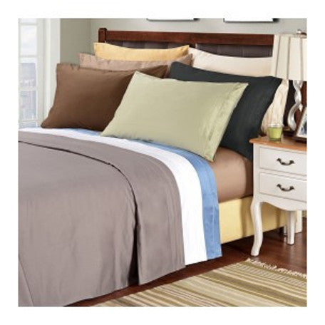 luxury 100 cotton thread count king size solid sheet set