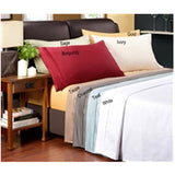 Luxury 1600 Thread Count 100% Pure Egyptian Cotton Solid Queen Size Sheets Set