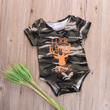 1  Piece Deer Cute Animal Romper Newborn Infant Baby Boy Clothes Camo Cotton Jumsuit Outfit Army Green Clothing Romper - Anippe