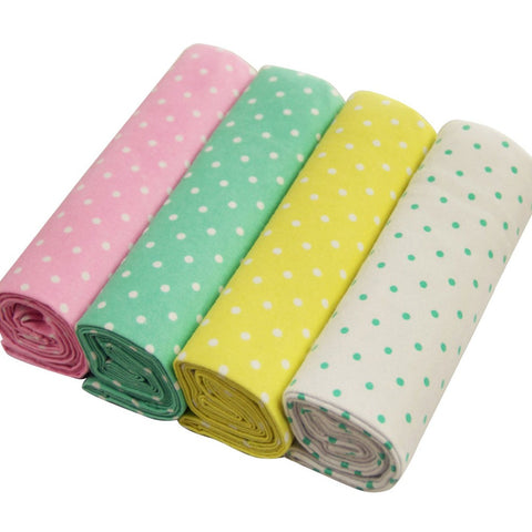 4pcs/Set 76*76CM Baby Bed Flat Sheet Newborn Bedding Crib 100% Cotton Cot Breathable Soft Colorful Crib Fitted Blanket Sheet