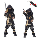 Christmas Gift !110-150 CM Children Boy Martial Ninja Cosplay Clothing Warrior Stage Suit Kids Swordsman Costume Christmas Suit - Anippe