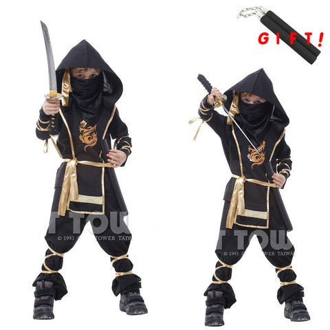 Christmas Gift !110-150 CM Children Boy Martial Ninja Cosplay Clothing Warrior Stage Suit Kids Swordsman Costume Christmas Suit