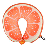 Fruit U Shaped Travel Pillow Nanoparticles Neck Pillow Watermelon Lemon Kiwi Orange Car Pillows Soft Cushion Home Textile - Anippe
