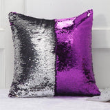 "DIY Mermaid Sequin Cushion Cover Magical Throw Pillowcase 16"" X 16"" (40X40cm) Color Changing Reversible Pillow Case For Home Decor - Anippe"