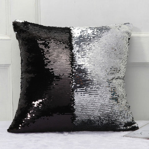 DIY Mermaid Sequin Cushion Cover Magical Throw Pillowcase 16