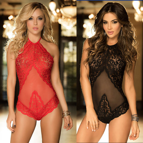 Sexy Women Lingerie Lace Dress Babydoll Underwear Intimates Nightwear Sleepwear