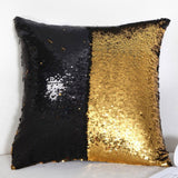 DIY Letter Sequin Cushion Cover Magical Throw Pillowcase 40X40cm Color Changing Reversible Pillow Case For Home Decor Christmas - Anippe