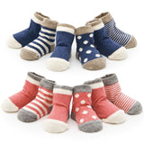 ( 8 pieces/lot=4pair ) 85% cotton Baby socks baby girl socks toddler newborn floor socks No bone promoted cotton baby socks - Anippe