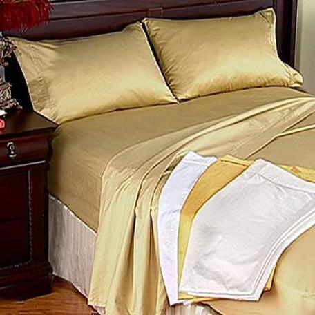 California King 1000 Thread Count 100% Cotton Sheets Set Gold