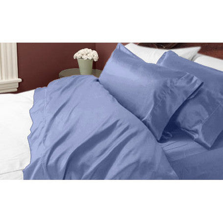 Luxury 1000 TC 100%  Cotton California King Sheet Set In Royal Blue