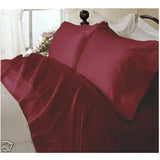 Luxury 1000 TC 100% Egyptian Cotton California King Sheet Set Solid In Burgundy