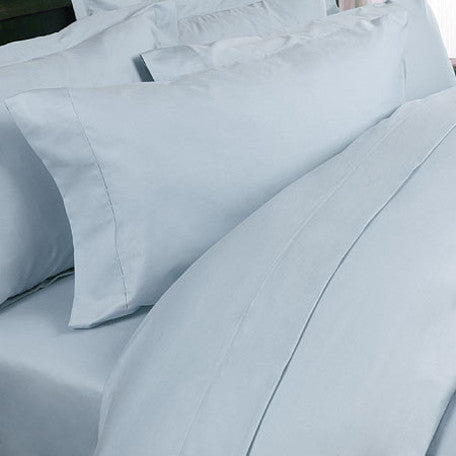 Luxury 1200 TC 100%  Cotton  Queen Sheet Set In Light Blue