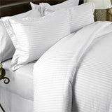 Two Luxury 800 TC King Size Pillow Cases striped in White