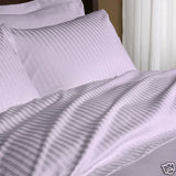 Two Luxury 800 TC King Size Pillow Cases striped in Lilac - Anippe