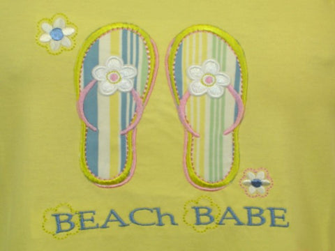 Beach Babe 100% Pure Egyptian Cotton Pajama In Yellow