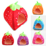 Soft Strawberry Pet Dog Cat Bed House - Anippe