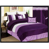 "Luxury Purple 60""x84"" Window Curtain with Lining and 18"" Valance"