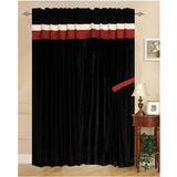 "Luxury Burgundy 60""x84"" Window Curtain with Lining and 18"" Valance"