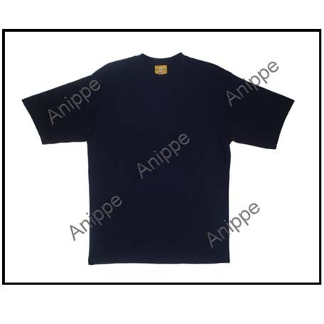 Egyptian Cotton Plain T Shirt Undershirt in  Navy Blue