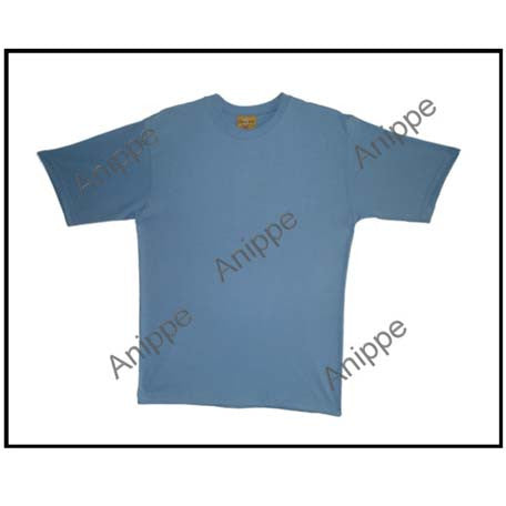 Egyptian Cotton Plain Blue T Shirt Undershirt Blue T Shirt