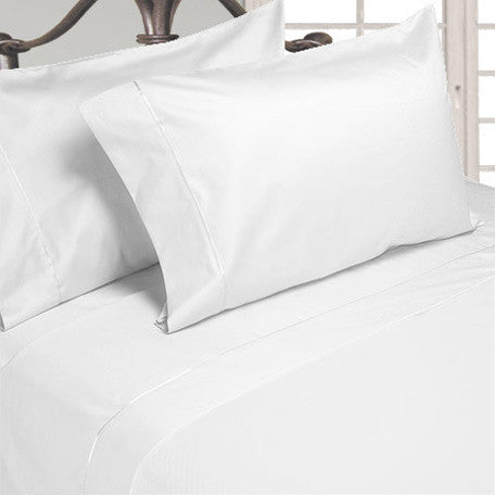Luxury 600 Thread Count 100% Egyptian Cotton Queen Sheet Set In White