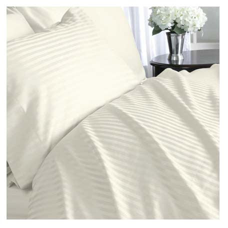1000TC Stripe King Flat Sheets