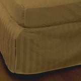 Luxury 300TC 100% Pure Egyptian Cotton Striped Bed Skirt in Bronze - Anippe