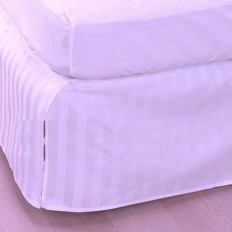 Luxury 300TC 100% Pure Egyptian Cotton Striped Bed Skirt in Lavender