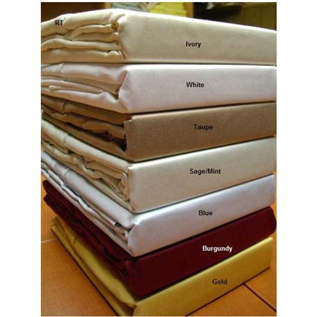 600 Thread Count 100% Cotton sheets set Twin Extra Long In Gold