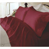 Luxury 800 TC 100% Egyptian Cotton Full Sheet Set In Burgundy