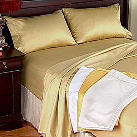 Luxury 800 TC 100% Egyptian Cotton Full Sheet Set In Gold