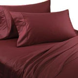 Luxury 800 TC 100% Egyptian Cotton Queen Sheet Set In Burgundy
