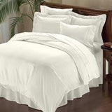 Luxury 1000TC 100% Egyptian Cotton Duvet Cover - Full/Queen Solid in Ivory - Anippe