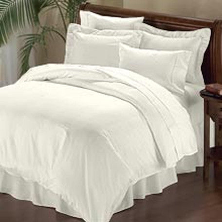 Luxury 1000TC 100% Egyptian Cotton Duvet Cover - King/Cal King Solid in Ivory