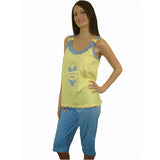 Bikini Star 100% Pure Egyptian Cotton Pajama In Yellow