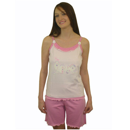 I love you 100% Pure Egyptian Cotton Pajama In Pale Pink