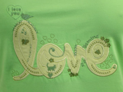 I love you 100% Pure Egyptian Cotton Pajama In Green