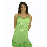 Sweet & Pretty 100% Pure Egyptian Cotton Pajama In Green - Anippe