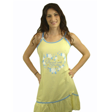 Sweet & Pretty 100% Pure Egyptian Cotton Pajama In Yellow