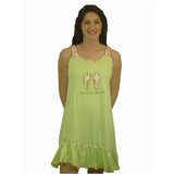 Beach Babe 100% Pure Egyptian Cotton Pajama In Lime - Anippe