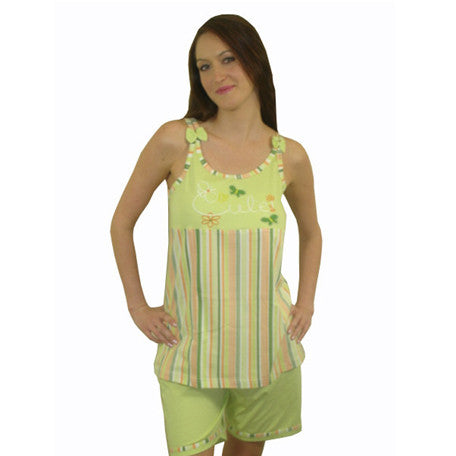 Cute 100% Pure Egyptian Cotton Pajama In Lime