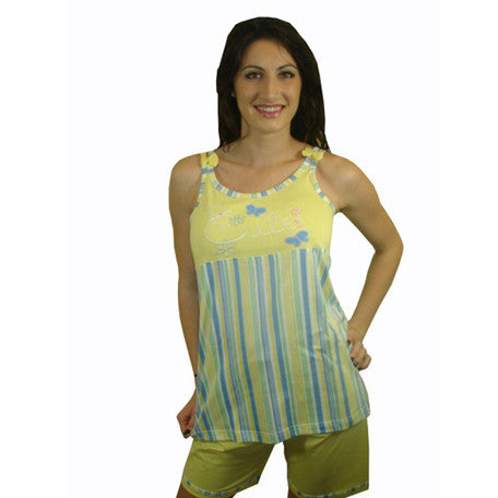 Cute 100% Pure Egyptian Cotton Pajama In Yellow