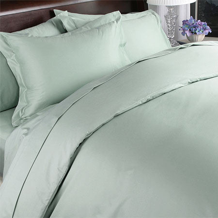 Luxury 1000TC 100% Egyptian Cotton Duvet Cover - Full/Queen Solid in Sage