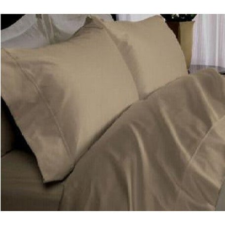 Luxury 1000TC 100% Egyptian Cotton Duvet Cover - Full/Queen Solid in Taupe
