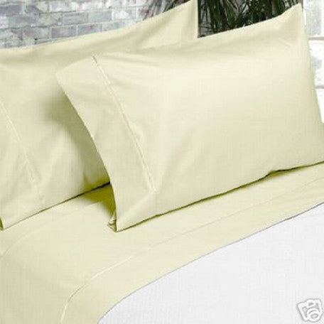 Luxury 600 Thread Count 100% Egyptian Cotton Queen Sheet Set In Ivory/Cream