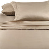 Luxury 1000 Thread Count 100% Cotton Full  Sheet Set Solid In Taupe - Anippe