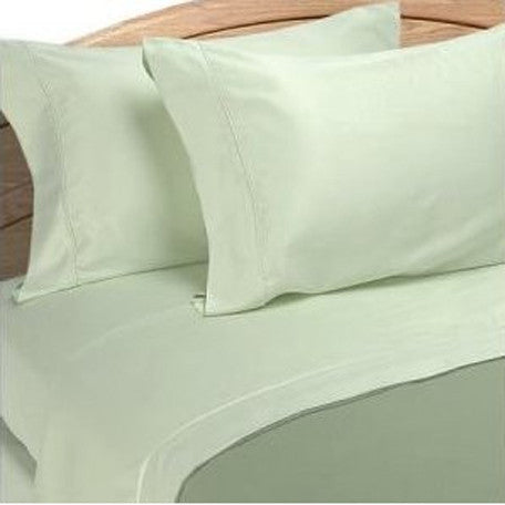 Luxury 1000 Thread Count 100% Cotton Full Sheet Set Solid In Sage/Green
