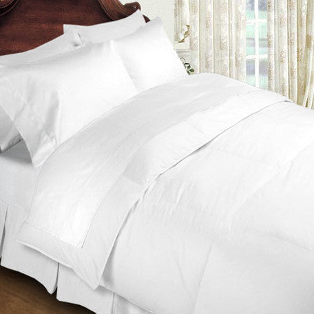 Luxury 1000 TC 100%  Cotton Full Sheet Set Solid In White