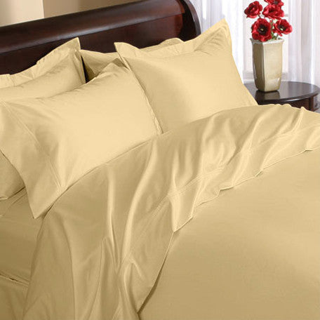 Luxury 1000TC 100% Egyptian Cotton Duvet Cover - King/Cal King Solid in Gold