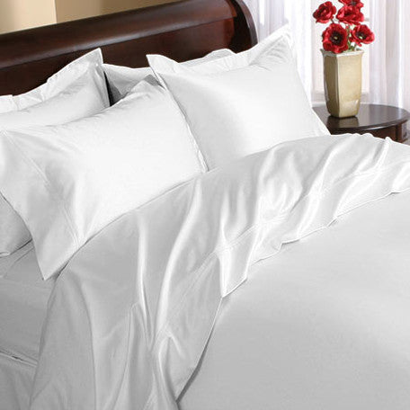 Luxury 1000 TC 100% Egyptian Cotton Queen Sheet Set In White